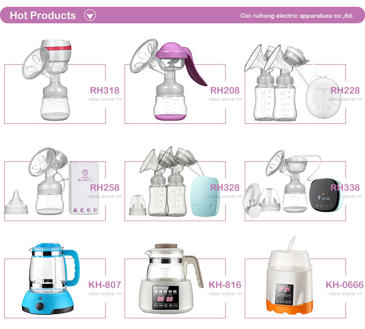OEM electronic breast pump and breast feeding, electric dual breast pump for baby