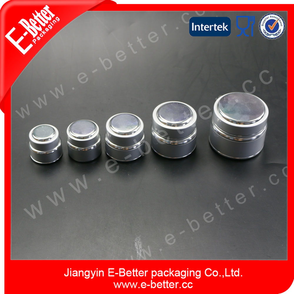 good quality mini travel size cosmetic day cream jar 5ml aluminum jar container with aluminium screw cap