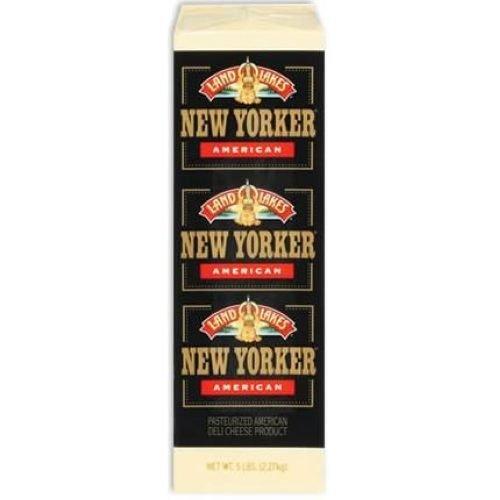 Land O Lakes American Yellow New Yorker Deli Cheese, 5 Pound -- 6 per case.