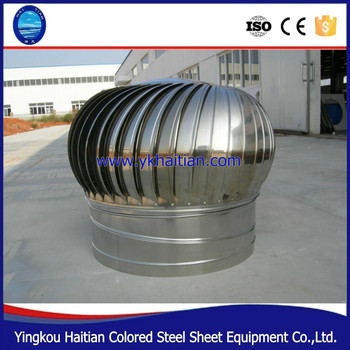 Chinese Ventilation Fan System For Turbo Roof Air Exhaust