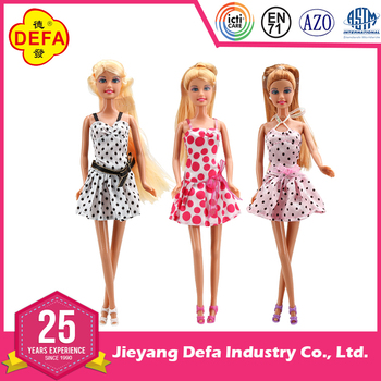 2016 Defa New Wholesale Doll Online Doll Dress Up Girl Games American Fashion Girl Baby Doll