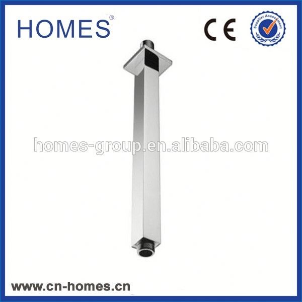 HOMES standard brass wall extend shower arm with round flange chrome