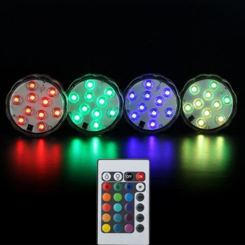 3 Aaa Battery Operated Remote Control 16 Colors Submersible Led Light Vase For