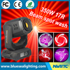 Super stage light 17r beam spot wash 3 in 1 350w moving head light