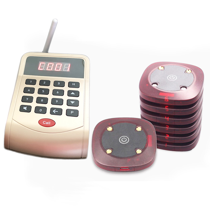 wireless queuing ordering device fast food restaurant take a number calling system