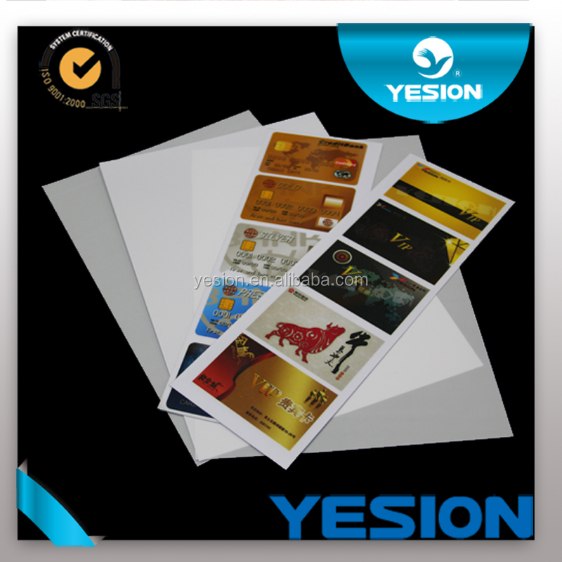 Yesion A4 Size Pvc Id Card Material No-laminated Material Pvc Id ...
