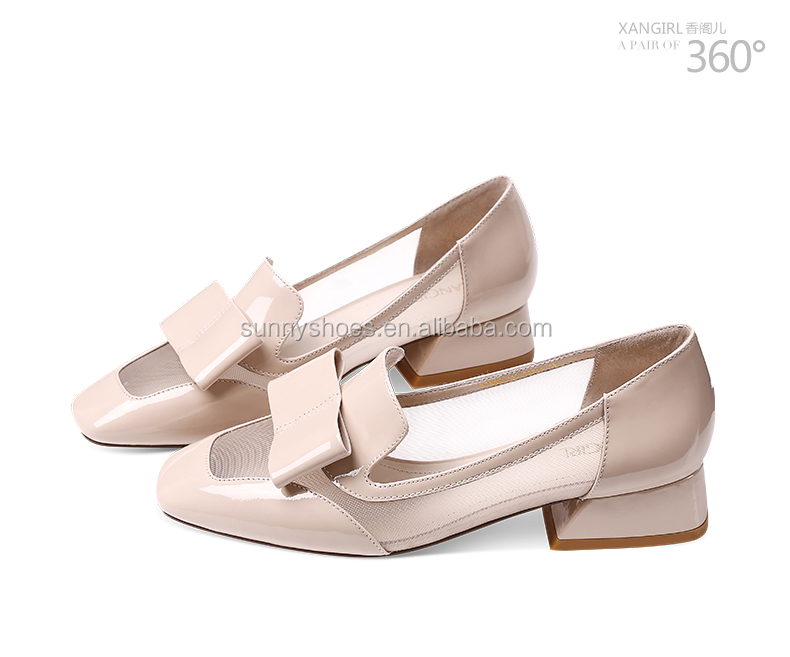 shoe square ladies 2017 woman girls heel new toe pumps fashion chunky dzq4Iq