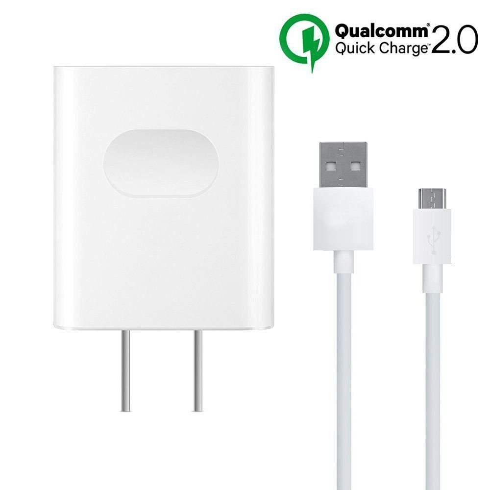 Cokusky Samsung Galaxy S7 Wall Charger, Quick Charge 2.0, 18W/9V2A Fast Wall Charger Adapter with Micro USB Cable