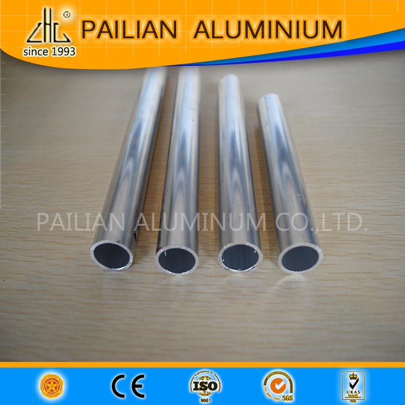 Asian 6063 aluminium extruded alloy round tubes, polished/anodized small diameter aluminium extruded pipe,32mm aluminium tube