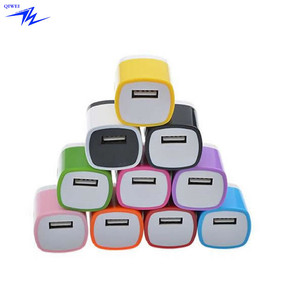 colorful 1A single usb travel charger home travel Wall phone Charger US power Adapter