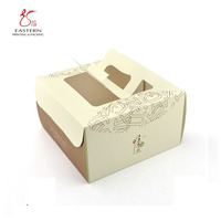 Custom Luxury Fashion Foldable Large Paper Square Birthday Cake Box