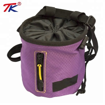 Custom Multifunctional Zippered Pockets Rock Climbing Chalk Bag