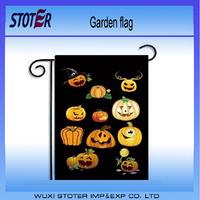 100%polyester custom printing Halloween garden flag