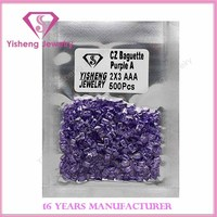 AAA Hot Sell Rectangle CZ Stock Zircon Amethyst Gemstone Suppliers