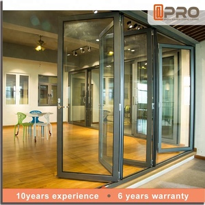 Competitive price luxury patio aluminium glass folding doors bifold design