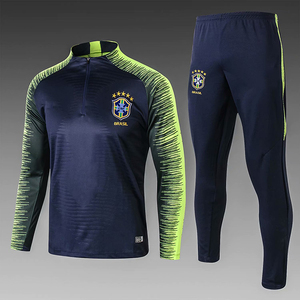 Russiaa 2018 world cup top quality Brazil training tracksuit uniform