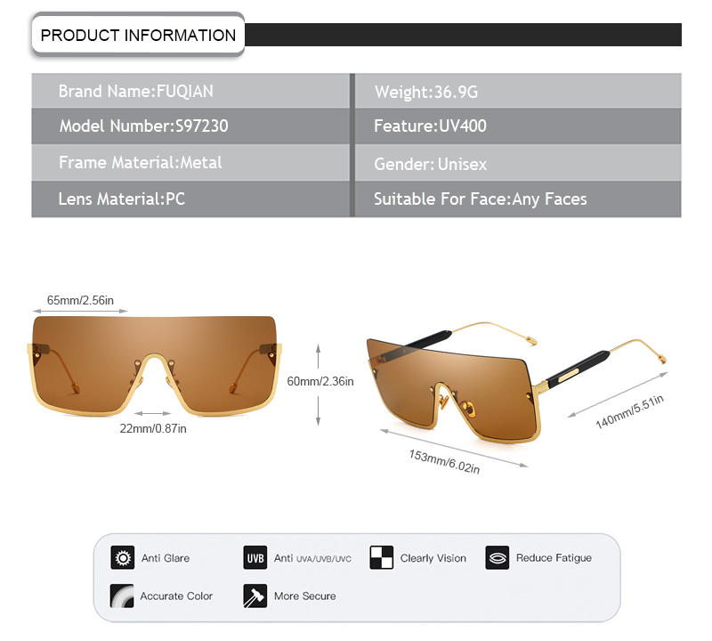 lightweight designer sunglasses wholesale company for women-5