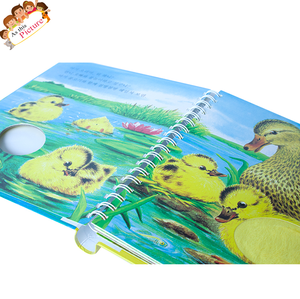 OEM professional paper preschool children cardboard feel and touch story book children