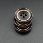 Imitation wood burn effect plastic button