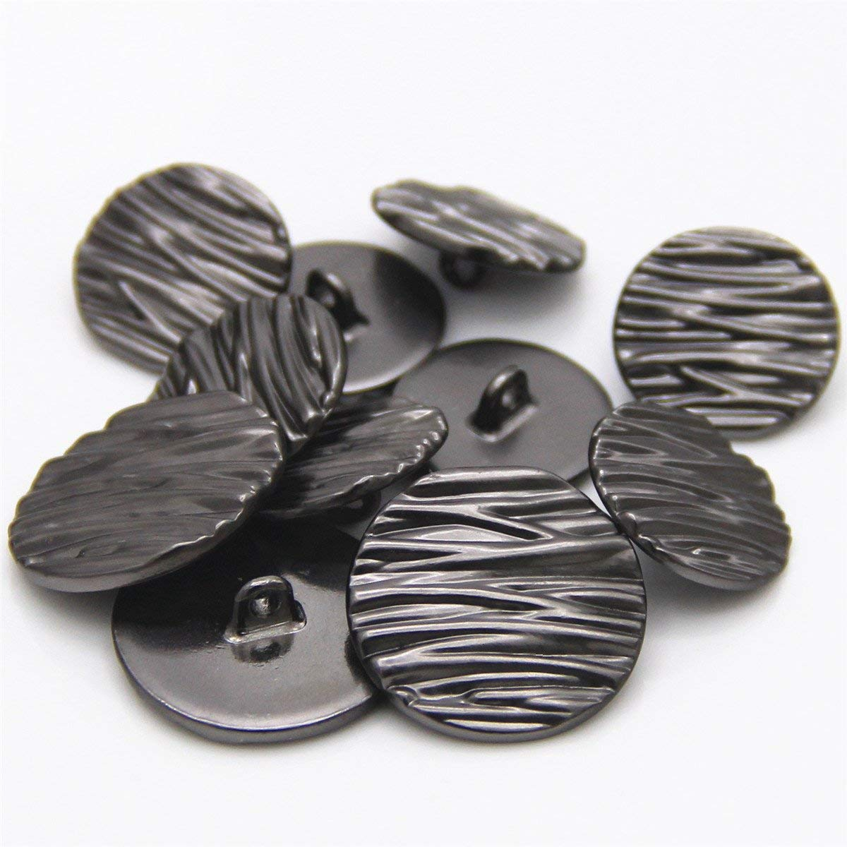 11 Pcs Sewing Metal Shank Buttons 23mm and 18mm Silver Blazer Buttons Set for Suit, Coat, Jacket