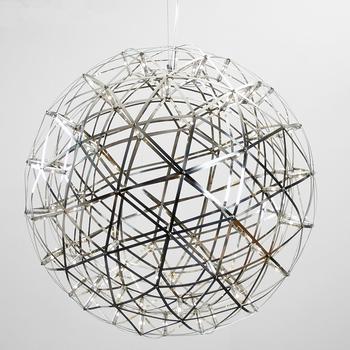 Acier Luminaire Cercle Pendentif Buy Inoxydable Lamparas D'artifice Lumières Led Feu Balle Étincelle En Moderne Style Suspension 0nNm8w