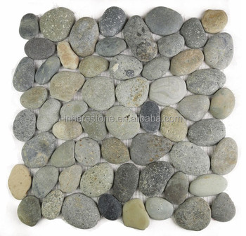 Grey Pebble Stone Mosaic Tiles 12x8