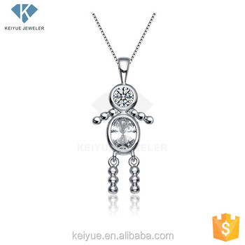 Lovely little angel baby girl cz stone silver pendants and charms lovely little angel baby girl cz stone silver pendants and charms necklace aloadofball Choice Image