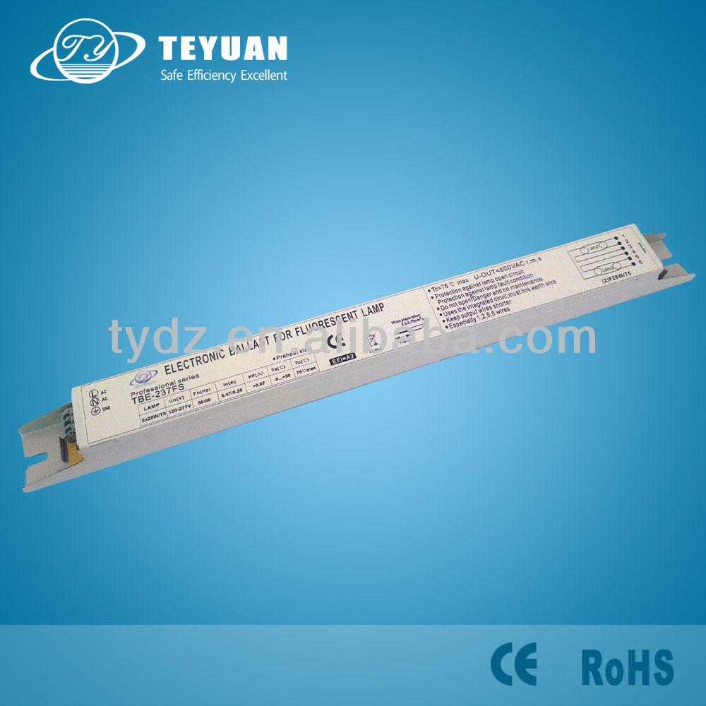 28W electronic ballast for circular fluorescent lamp