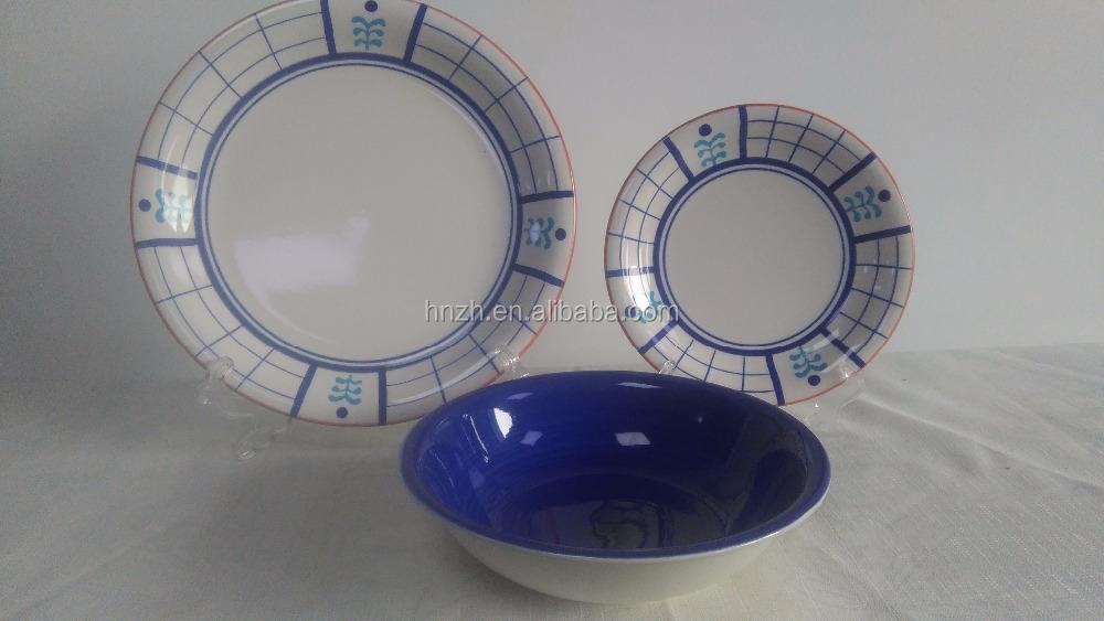 18 pcs ronde chine vaisselle ensemblescouleur peint la main cramique dner ensemble - Vaisselle Colore Pas Cher
