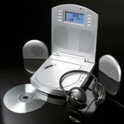 CD Player Alarm Clock With Removable Speakers