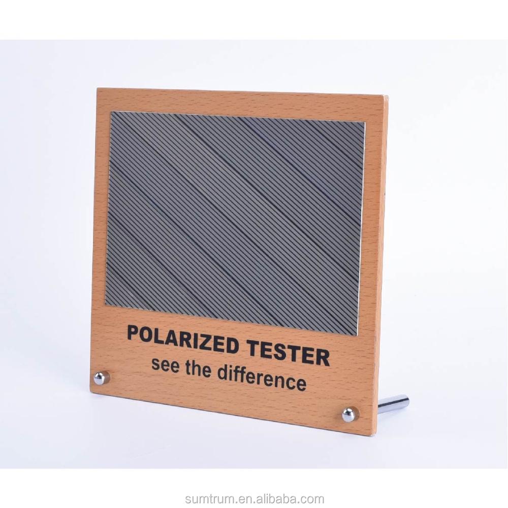 ee242df29bfba Imagem De Teste Polarizada Tester Com Mdf Exibição Do Arco-íris ...