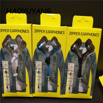 For Mobile Phone Computer Zipper Earphones;Sport Zipper Headphone For iPhone x Earphone