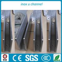 Aluminum Channel Glass Handrail Aluminium Stair Railing