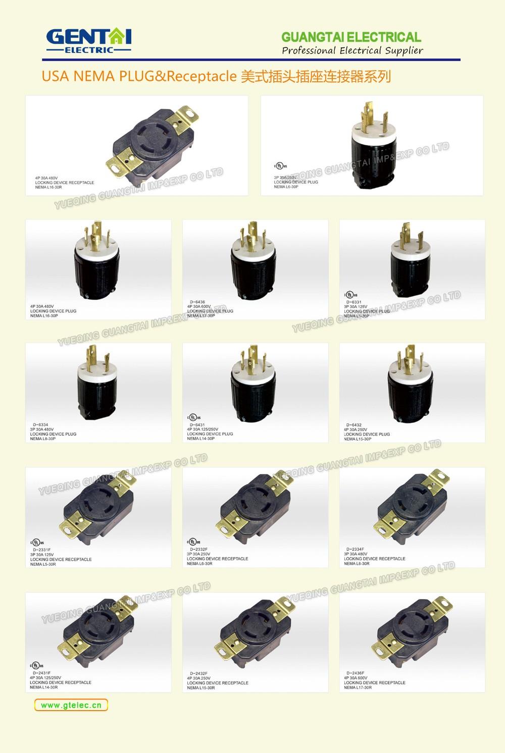 Hot Sale American Style Plug Electrical Nema Plug Usa Type