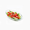 Borosilicate glass fish plate heat resistant microwave oven steaming fish plate
