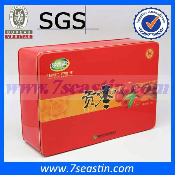 caviar tin box, NO.2685 gift packaging red tin box