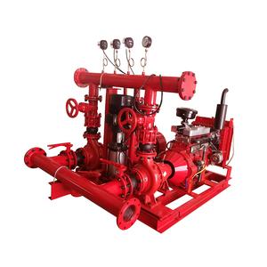 Fire sprinkler system fire pump set, 500GPM diesel fire pump