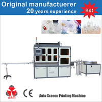 CE Standard Multi Color Glass Screen Printing Machine For Glass Bottles
