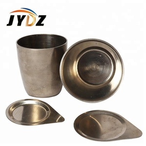 No. 8105 nickel 99.6% purity 50ml Melting Nickel Crucible with lid
