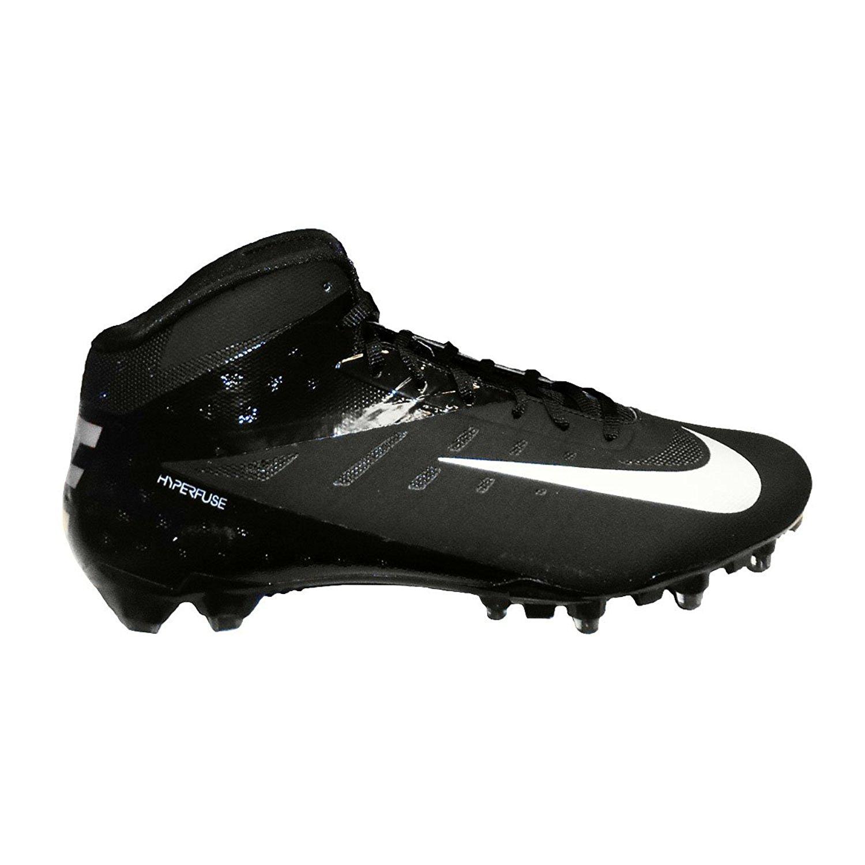 new products 866a0 433b1 Nike Vapor Talon Elite 3 4 Mens Black Metallic Silver Football Cleats