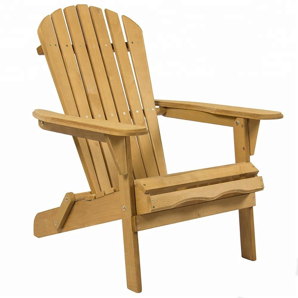 Wooden Adirondack Chair For Patio Yard Deck And Foldable