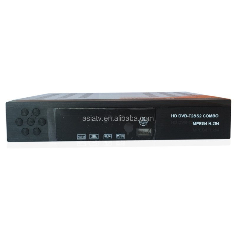 <strong>FTA</strong> <strong>HD</strong> Set Top Box DVB T2 + S2 Combo <strong>satellite</strong> <strong>Receiver</strong> PowerVu decoder Biss key PVR