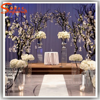 Latest design artificial artificial flower for weddings flowers wedding table tree centerpieces