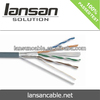 LANSAN High quality PVC /LSZH/ PE rohs 4 Pairs F/utp Cat5e Patch Cord Lan Cable 24awg