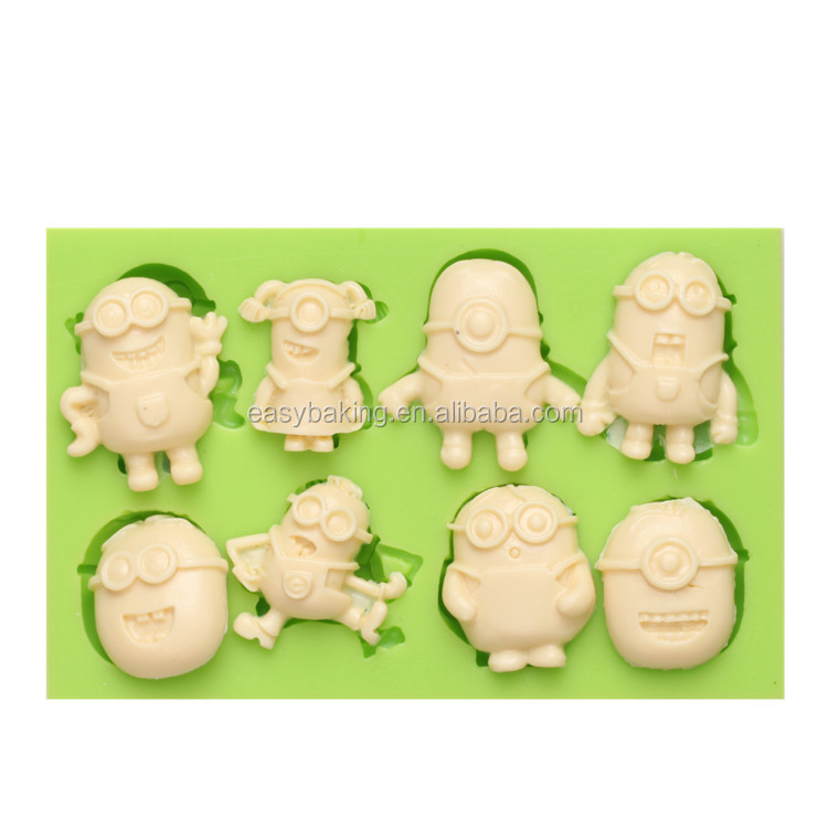 7ES-0852 Multifarious Minions Silicone Molds Fondant Moulds for cake decorating.jpg