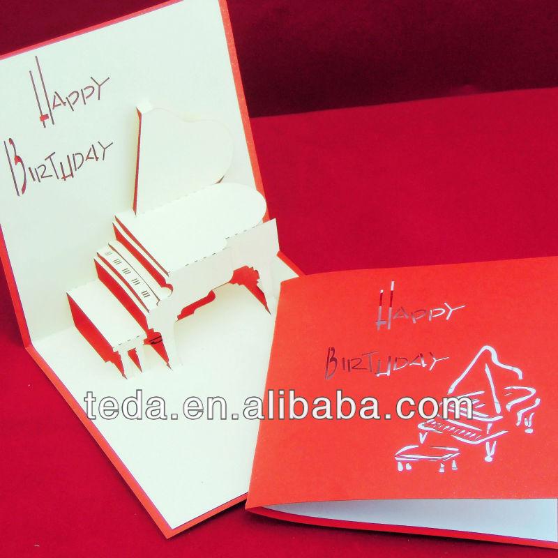 3d Piano Handmade Birthday Invitation Cards Buy 3d Piano – Invitation Cards Handmade