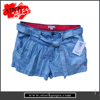 Wholesale jean shorts ladies sexy denim shorts with belt