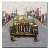 Hand Painted Hotel Decoration Interior Wall Painting Canvas