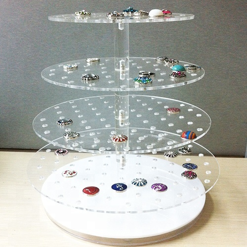 Jewelry Exhibition Desktop Acrylic Display Tray For Ring