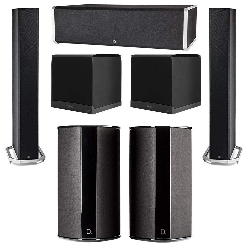 Definitive Technology 5.2 System with 2 BP9060 Tower Speakers, 1 CS9060 Center Channel Speaker, 2 SR9080 Surround Speaker, 2 Definitive Technology SuperCube 6000 Powered Subwoofer